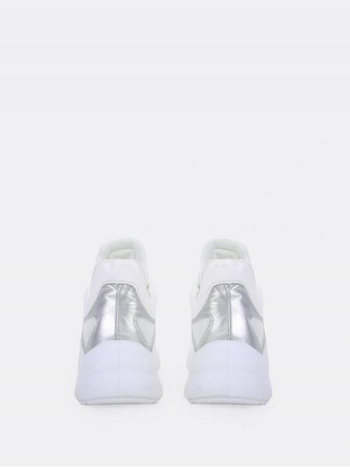 Corduroy Silver Chunky Trainers Cut out Throwback Two Tone Mesh Sole Sneakers Clearance