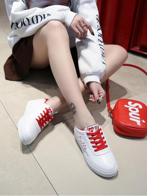 Corduroy White Skate Shoes Bow Low Top Sneakers Cheap