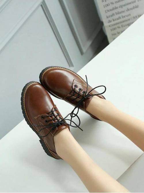 Corduroy Brown Mules Beaded Pu Oxfords Cheap