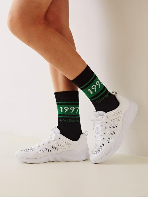 Comfort Round Toe White Lace-up Front Perforated Sneakers