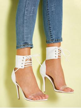 Lace Up White High Heel Stiletto Lace Up Stiletto Heels