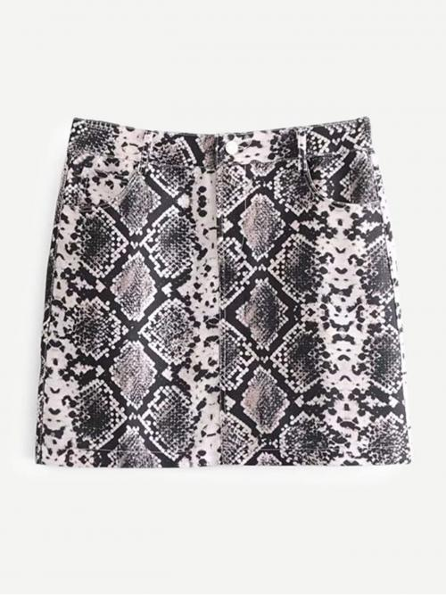 Multicolor Natural Waist Scallop Bodycon Skirt Trending now