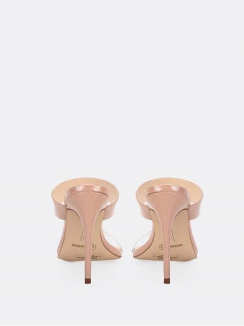 Affordable Apricot Mules High Heel Stiletto Open Pointy Toe Mule Heels