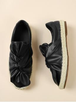 Women's Corduroy Black Mules Rhinestone Twist Slip on Espadrilles