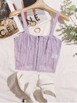 Cami Sheer Lace Plain Top Affordable