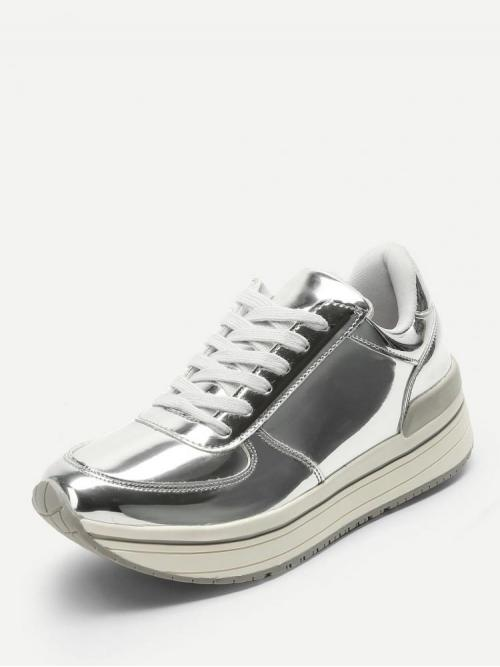 Clearance Corduroy Silver Slip on Pearls Metallic Sneakers