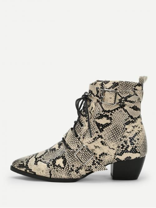 Affordable Corduroy Multicolor Stretch Boots Studded Snake Embossed Side Zip