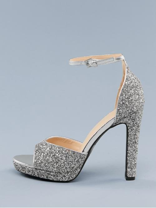 Ankle Strap Ankle Strap Silver High