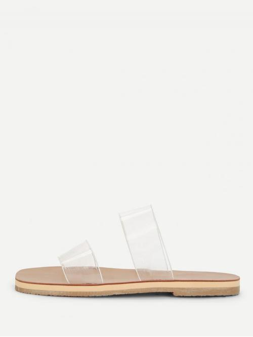 Corduroy Black Thong Sandals Tassel Clear Flat Sandals on Sale