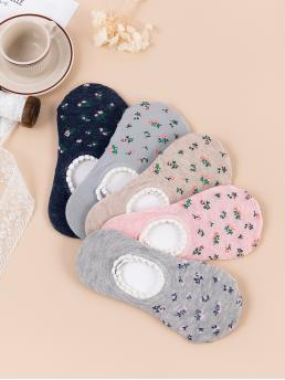 Clearance 5pairs Ditsy Flower Pattern Socks