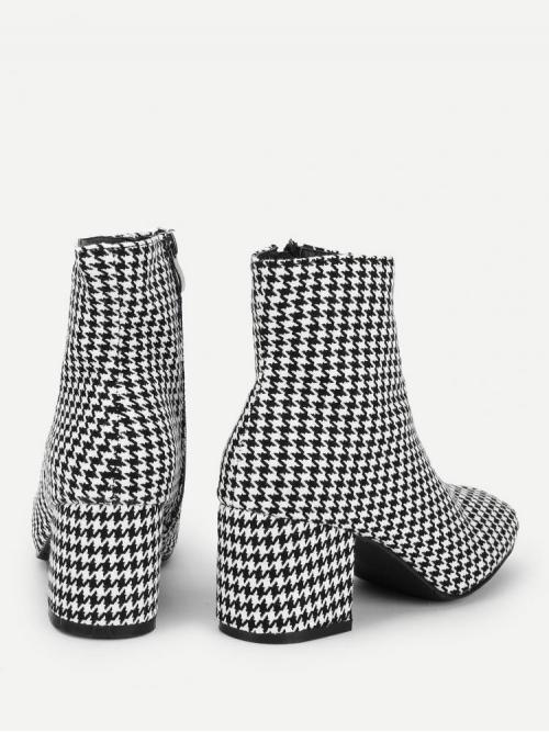 Corduroy Black and White Combat Boots Buckle Boots Shopping