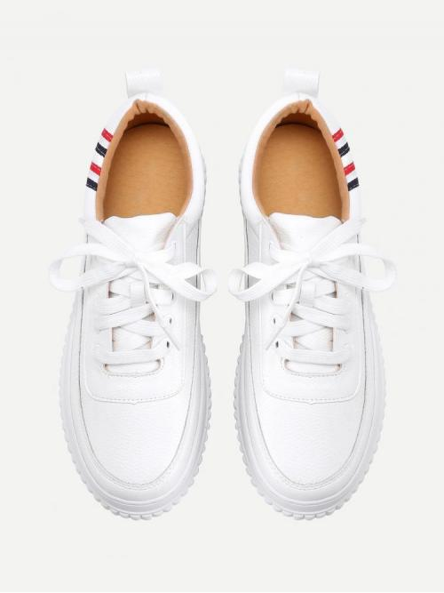 Corduroy White Skate Shoes Studded Detail Sneakers Shopping
