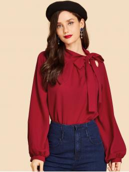 Long Sleeve Top Button Tweed Top Fashion