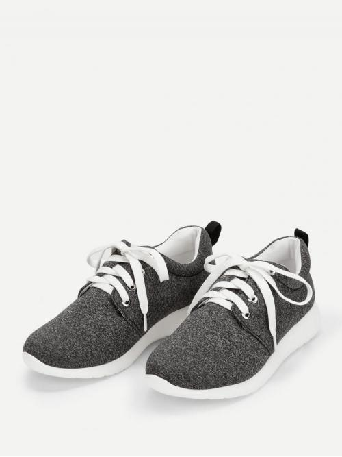 Velvet Grey Pullovers Bow Low Top Sneakers Pretty