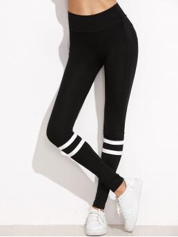 Black Natural Waist Drawstring Regular High Waist Leggings Clearance