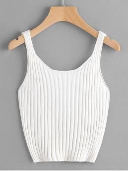 Ribbed Sweater-knit Tank Top Trending now