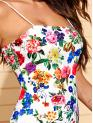 Elegant Bodycon Floral Pencil Slim Fit Spaghetti Strap Sleeveless Natural Multicolor Short Length Floral Print Bodycon Dress