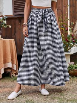 White High Waist Button Front a Line Self Skirt on Sale