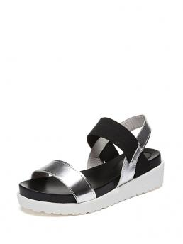 Other Plain Flatform Strappy Multicolor Open Toe Strap Flat Sandals