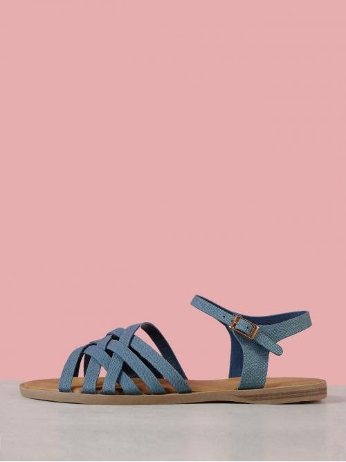 Corduroy Blue Thong Sandals Studded Multi Criss Cross Sandal Discount