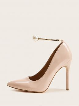 Glamorous Ankle strap Pink High Heel Stiletto Point Toe Ankle Strap Stiletto Heels