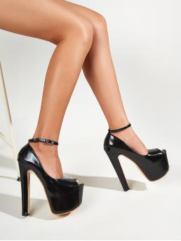 Shopping Black Court Pumps Ultra High Heel Platform Ultra High Heeled Pumps