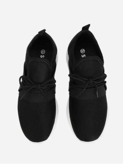 Corduroy Black Skate Shoes Hollow Low Top Sneakers on Sale