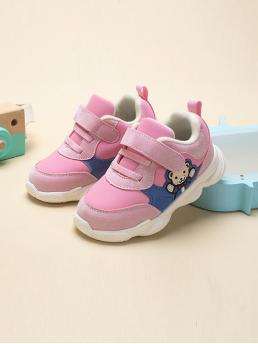 Affordable Toddler Girls Lace-up Front Velcro Strap Sneakers