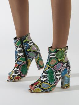 Affordable Green Sandals Boots High Heel Chunky Peep Toe