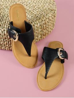 Corduroy Black Gladiator Sandals Studded Thong Sandal with Buckled Band Shopping