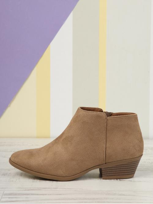 Womens Corduroy Camel Stretch Boots Lace up Inner Zip Block Stacked Heel Ankle Booties