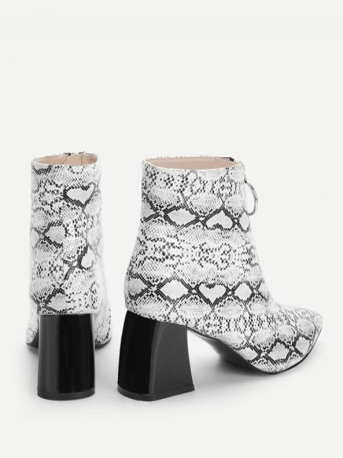 Corduroy Multicolor Stretch Boots Pearls Snake Print Fashion