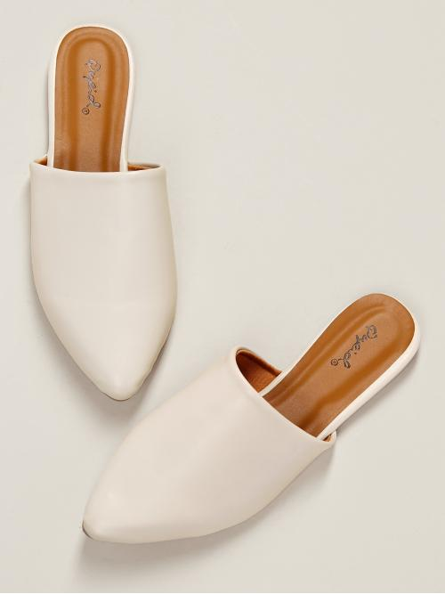 Comfort Point Toe White Pointed Toe