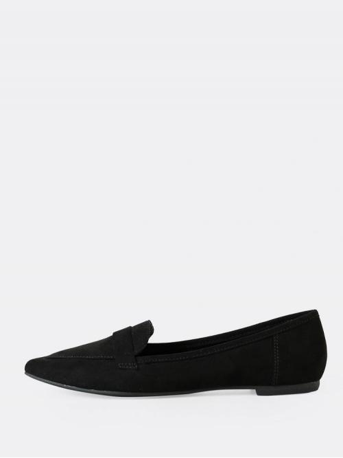 Trending now Black Ballet Point Toe Suede Faux Pointy Toe Flats