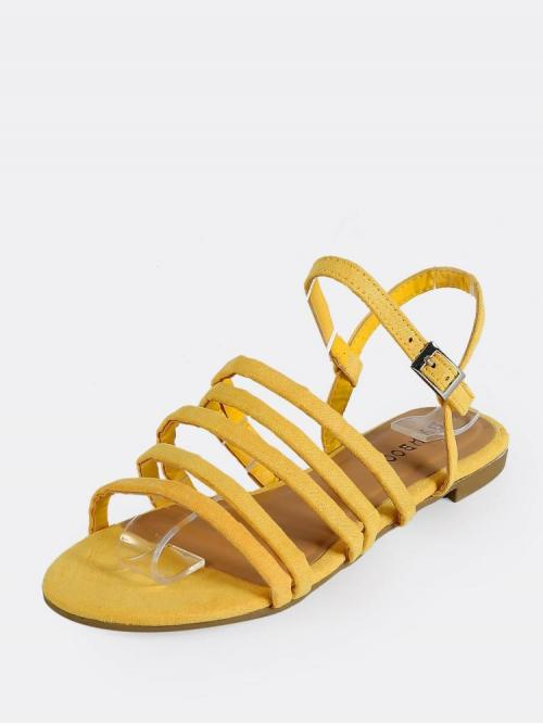 Corduroy Yellow Gladiator Sandals Studded Multi Faux Sandals Clearance