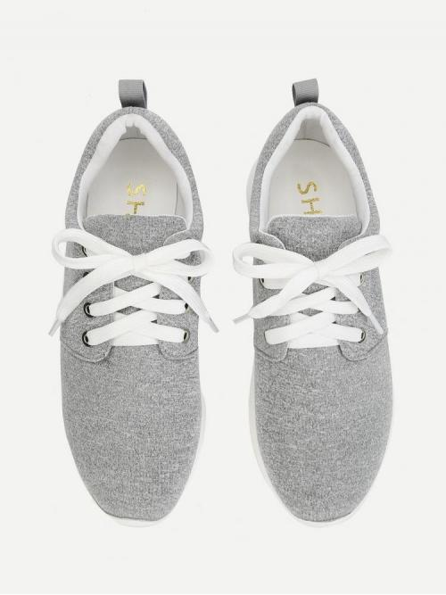 Corduroy Grey Running Shoes Embroidery Low Top Sneakers Pretty