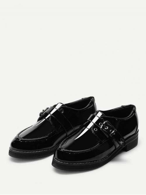 Shopping Corduroy Black Loafers Bow Buckle Brogue Shoes