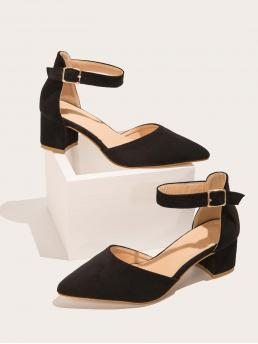 Black Court Pumps Mid Heel Chunky Mid Heeled Pumps Clearance