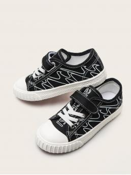 Women's Toddler Girls Lace-up Front Canvas Shoes