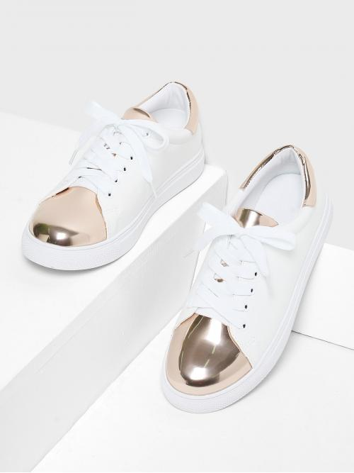 Womens Corduroy Multicolor Skate Shoes Studded Two Tone Sneakers