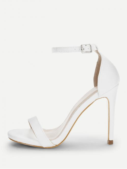 Sale Corduroy White Court Pumps Glitter Single Band Ankle Heels