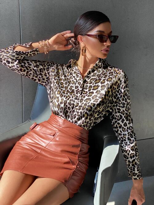 Long Sleeve Shirt Button Front Polyester Button up Blouse Cheap