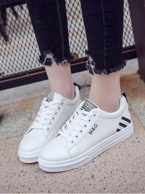 Corduroy White Skate Shoes Hollow Detail Sneakers Affordable