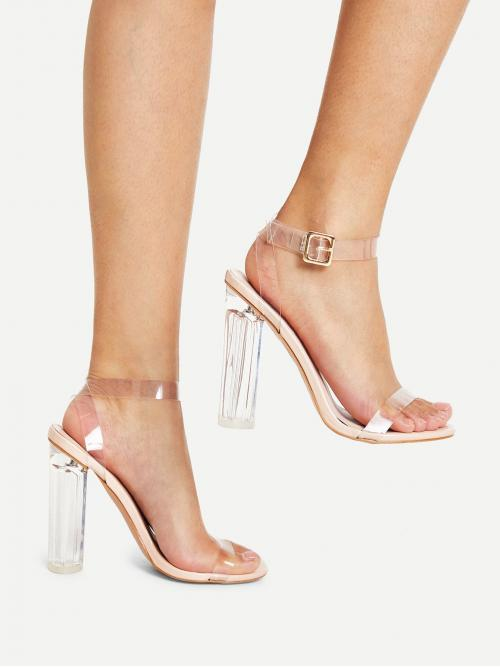 Trending now Corduroy Apricot Mules Glitter Ankle Clear Design Heels