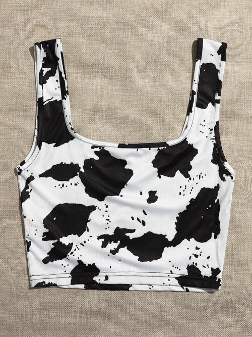 Cheap Tank Polyester all over Print White Top