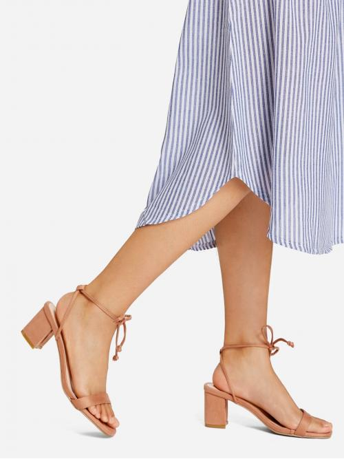 Ladies Corduroy Orange Mules Bow Frontpy Heeled Sandals