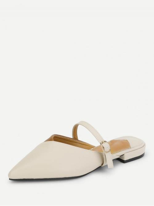 Corduroy Apricot Mules Bow Two Tone Flat on Sale