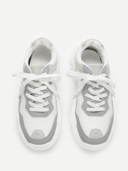 Shopping Corduroy Grey Chunky Trainers Hollow Sole Sneakers