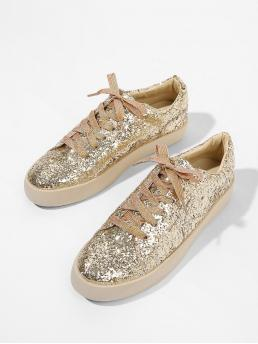 Corduroy Gold Slip on Zipper Sneakers Beautiful