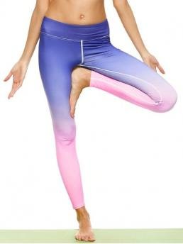 Straight Others Elastic High Skinny Normal Active Ombre Stirrup Yoga Leggings
